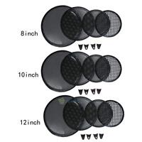 8/10/12inch Metal Car Vehicle Audio Speaker Mesh Sub SubWoofer Grill Cover Black