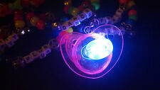 **RAVE PACIFIER** - Light Up - LED Party Glow Flashing Blinking - Ring Necklace