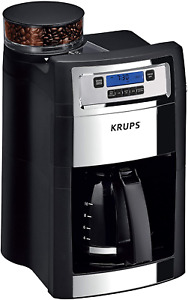 KRUPS Grind and Brew Auto-Start Maker with Builtin Burr Coffee Grinder, 10-Cups,
