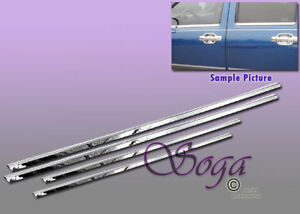 FOR CHEVY COLORADO GMC CANYON CREW CAB CHROME STAINLESS STEEL WINDOW SILLS 4PCS