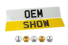 PAIR Of OEM Style SHOW PLATES Number Plates Gloss Black Novelty Car