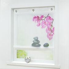 Raffrollo Küche Raffgardine Fenstergardine Weiß Modern 60/80/100/120 Breite