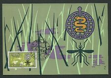 Spain MK 1962 anti-malaria OMS Anopheles Insects MAXIMUM CARD MC cm d2754