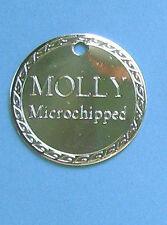 Médaille gravee Chien PROMO grande médaille Chrome avec bordure decoratif