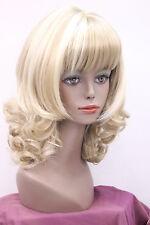 Haute qualité ! blonde mixte Moyen Ondulé santé cosplay Costume cheveux perruque