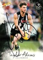✺Signed✺ 2018 COLLINGWOOD MAGPIES AFL Card TAYLOR ADAMS