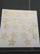 Plain Gold Card Stars Christmas Craft Card Toppers Gold Scrapbooking