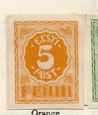 Estonia 1919 Early Issue Fine Mint Hinged 5p. 066649