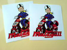 MALAGUTI Moped Scooter fans Helmet Stickers Decals 2 off 100mm