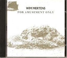 WIM MERTENS For Amusement Only  CREPUSCULE CD