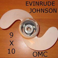 ELICA ORIGINALE FUORIBORDO EVINRUDE JOHNSON OMC 9X10 2 PALE ALLUMINIO 15 9/9 HP