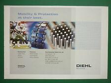 10/2005 PUB DIEHL REMSCHEID PROTECTION RUNNING GEAR FOOTBALL AMERICAIN AD