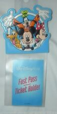 WALT DISNEY WORLD MICKEY MOUSE FAST PASS -TICKET HOLDER NEW