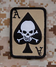 DEATH DEALER CARD Patch ODA CAG Afghanistan Special Forces Hook Backing