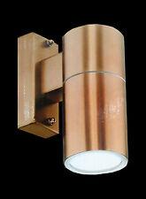 LED Copper Finish Fixed Exterior Outdoor Wall Light 240V 12W GU10