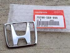 "New OEM 88-91 Honda Civic CRX Si HX EF8 EF9 D16 Front or Rear ""H"" Emblem Badge"