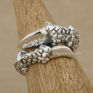 Vintage Gothic Sterling Silver Claw Ring Size 9