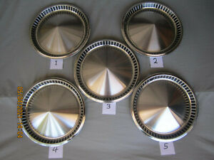 "1957 PLYMOUTH FURY BELVEDERE SAVOY 14"" HUBCAPS SET OF 5 EXCELLENT **NO RESERVE**"
