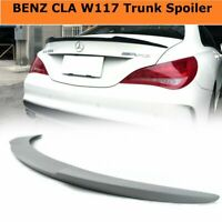 Unpainted V Style Rear Trunk Spoiler for Mercedes Benz CLA C117 CLA250 2014-2018
