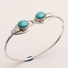 Sterling Silver Fine Jewelry Gifts Natural Afghan Turquoise Bangle Bracelet 925