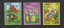 Dominica 3 timbres neufs 1984 Walt Disney le Lièvre et la Tortue /T3065