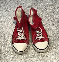 Kids Hightop Trainers Size 1.5 H&M Red <SW6759