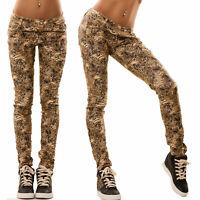 Pantaloni donna skinny leopardo animalier maculato nuovi TOOCOOL M10389-1