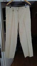 "!! STROMBERG Men Golf Trousers Cotton Beige Check Size 36/31"""