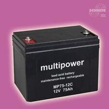 Batterieantrieb Batterie Bleiakku Blei AGM Akku Solarpuffer Solar, 12V 75Ah
