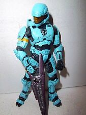 Halo 3 Series 2 **WALMART EXCLUSIVE CYAN ODST** 100% Complete w/ Beam Rifle!!