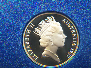 1987 AUSTRALIA PROOF 1 CENT COIN FROM A PROOF SET.