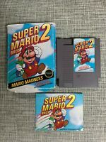 Super Mario Bros. 2 NES (Complete In Box, Includes Instruction Booklet)
