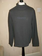 VERSACE JEANS COULTURE DESIGNER PULLOVER SWEATER GREY LARGE see defects