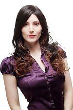 Séduisant Perruque pour Femme Ombre Cheveux Marron Rouge Brun Mix Long Ondulé