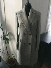 BNWT Karen Millen Black White Yellow Heritage Check Tailored Coat - Size 12