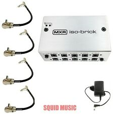 MXR ISO-BRICK M238 POWER SUPPLY w/ DC CABLES ISOLATED OUTS (4 MXR PATCH CABLES )