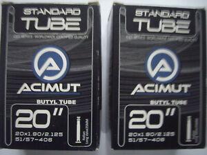 "PACK x 2 ACIMUT CST SERIES 20"" CYCLE INNER TUBE LONG PRESTA VALVE BUTYL RUBBER"