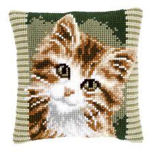 Brown Cat : Vervaco Chunky Cross Stitch Cushion Kit - PN0149856