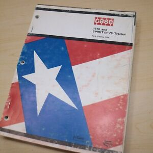 CASE IH 1570 Spirit of 76 Tractor Parts Manual Book spare catalog 1318 list 1976