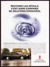 1995 OLDSMOBILE Achieva Vintage Original Print AD - Black car photo French Ca