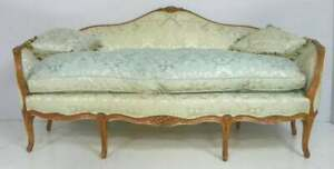 Italian Carved Walnut Settee