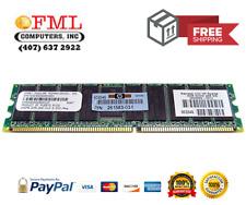 HP 287495-B21 256MB PC2100 184-Pin DDR SDRAM ECC Registered DIMM Memory