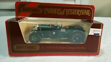 MATCHBOX MOY Y2 BENTLEY 1930 41/2 LT SUPER CHARGED MADE IN GREAT BRITAIN DIECAST