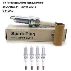 4Pcs DILKAR6A-11 Laser Iridium Spark Plugs For Nissan Altima Sentra Infiniti