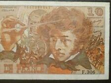"""Série:F.306"""".10frs BERLIOZ.6.7.1978.AUCUNEfente,2 trous."""