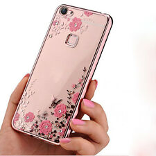 Fashion 3D Bling Patterned Strass Back TPU Silicone Rubber Case Cover Lot Bumper