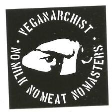 100 Veganarchist Aufkleber stickers Punk HC sXe Vegan Animal Liberation Tofu ALF