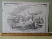 Vintage Print,STEAMER,Isaac Newton,Gleasons,c1850s