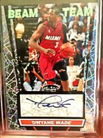 2007-08 Topps Stadium Club Beam Team Silver AUTO Dwayne WADE Miami HEAT