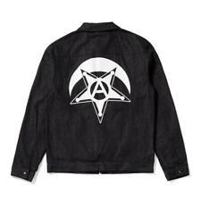 Black Scale Midnight Mens Xl Denim Zipper Jacket Jean BLVCK SCVLE Pentagram